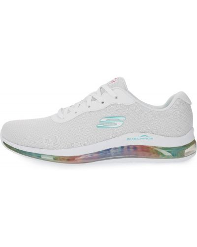 Кожаные белые кроссовки для фитнеса Skechers