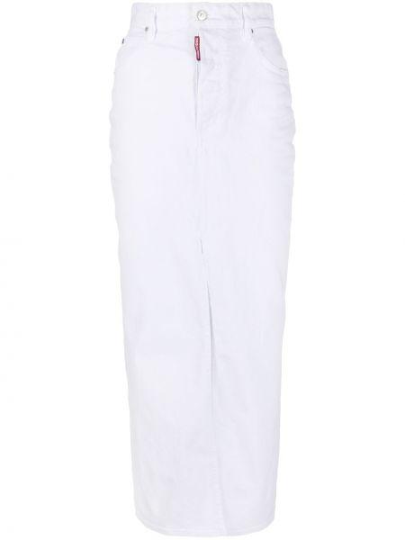 Bawełna bawełna niebieski spódnica maxi z kieszeniami Dsquared2