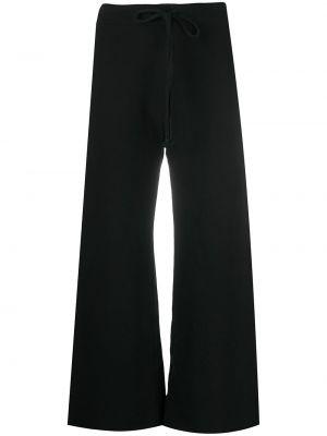 Черные укороченные брюки с карманами свободного кроя на шнурках Nili Lotan