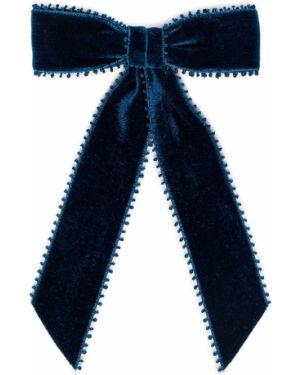 Синяя бархатная заколка Jennifer Behr