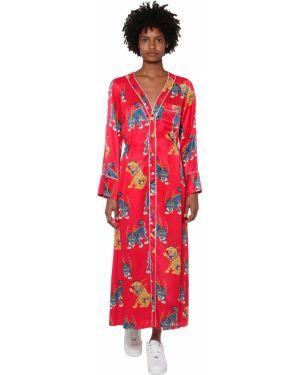 Платье миди на пуговицах с V-образным вырезом Kirin