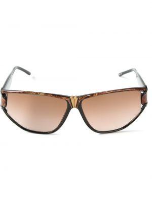 Муслиновые черные солнцезащитные очки Givenchy Pre-owned