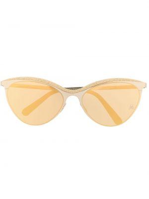 Złote okulary Philipp Plein