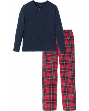 Пижама в клетку на пуговицах Bonprix