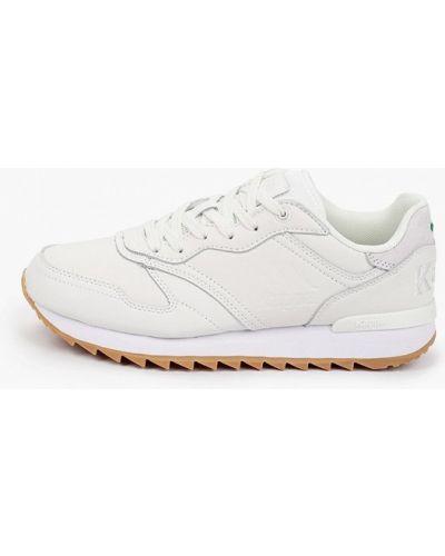 Кожаные белые кроссовки Kappa