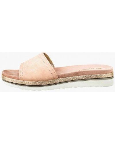 Сабо кожаные розовый Inblu