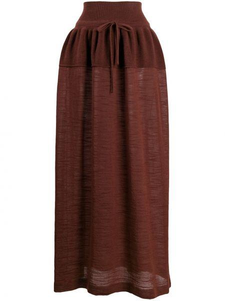 Spódnica maxi ołówkowa trykotowy Lemaire