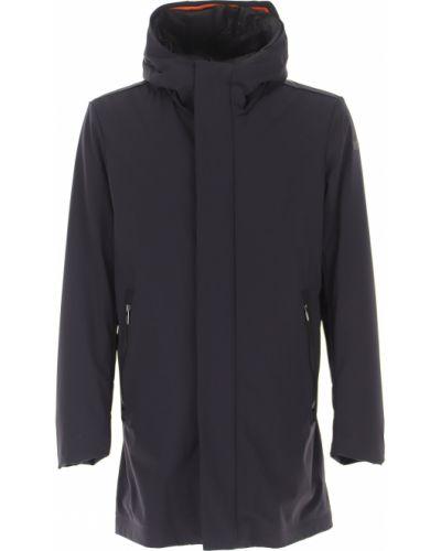 Czarny zimowy płaszcz na przyciskach od płaszcza przeciwdeszczowego Rrd