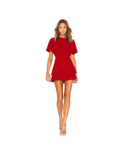 Платье на молнии красный Alice + Olivia