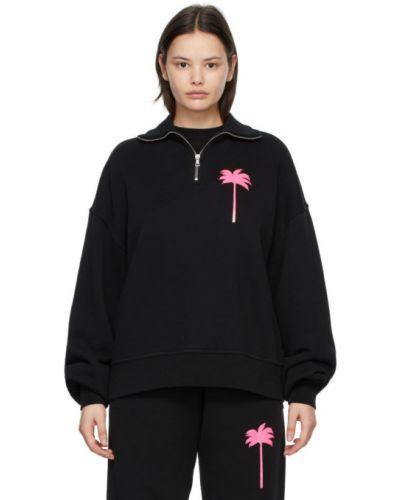 Трикотажная черная водолазка с воротником Palm Angels