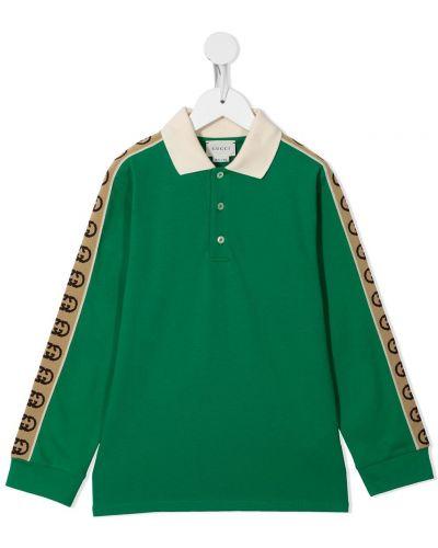 Zielona koszula bawełniana Gucci Kids