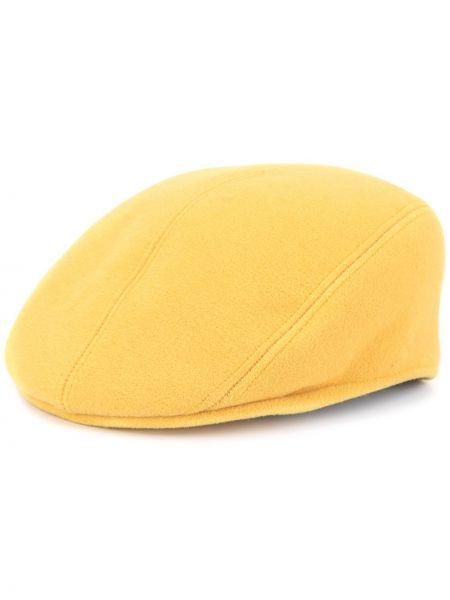 Шерстяная желтая кепка Hermes