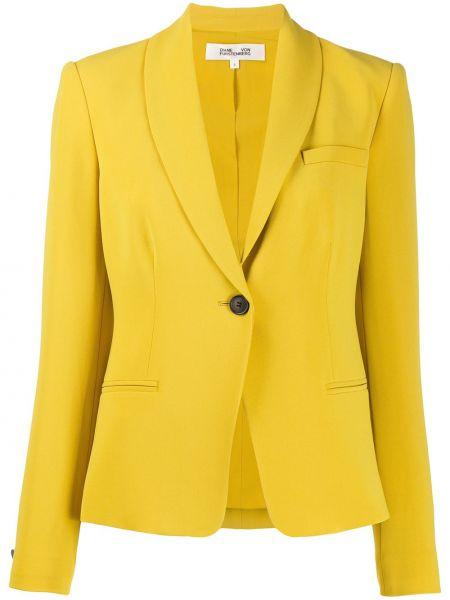 Пиджак с накладными карманами из крепа Diane Von Furstenberg