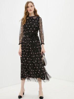 Черное весеннее платье Vera Moni
