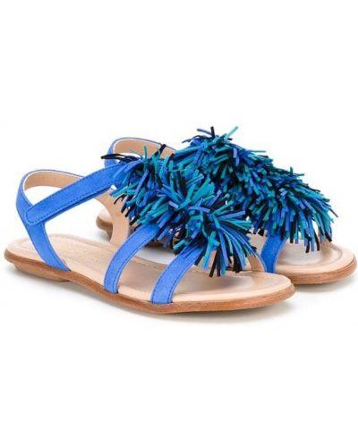 Сандалии синие Aquazzura Mini