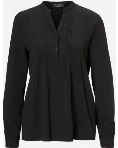 С рукавами черная блузка с воротником Marc O' Polo