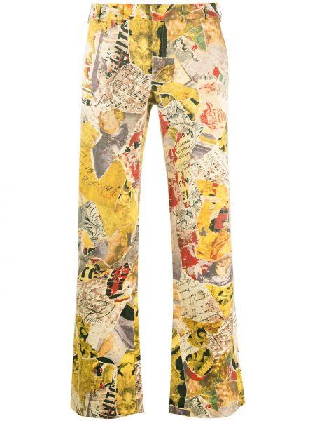 Хлопковые прямые прямые джинсы с жемчугом с потайной застежкой Moschino Pre-owned