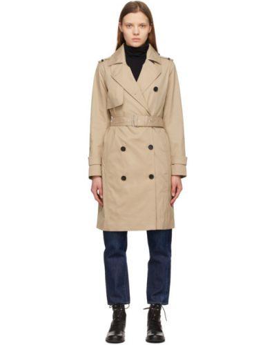 Стеганое бежевое пуховое длинное пальто Mackage