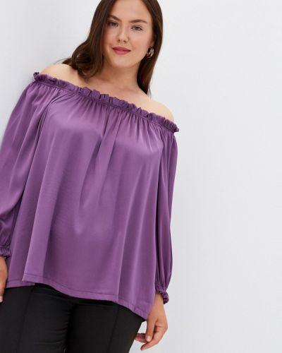 Фиолетовая блузка с открытыми плечами с открытыми плечами Prewoman