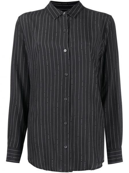 Шелковая прямая черная рубашка с воротником Equipment