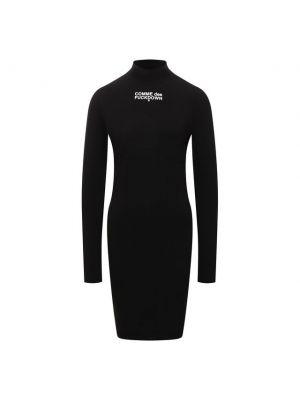 Черное итальянское платье Comme Des Fuckdown