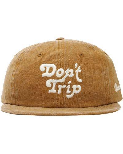 Zielony kapelusz z haftem Vans