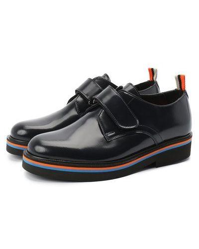 Синие кожаные туфли с подкладкой Rondinella