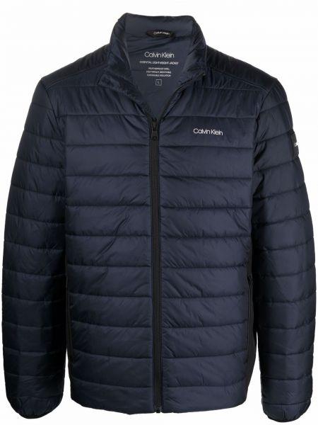 Синяя длинная куртка Calvin Klein