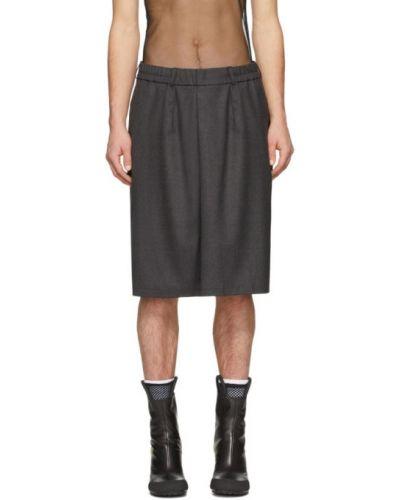 Шерстяная юбка-шорты с карманами Random Identities