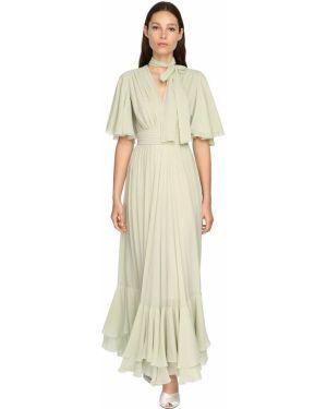 Приталенное расклешенное платье макси на молнии Giambattista Valli