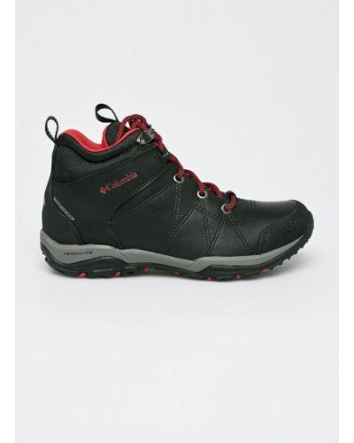 Кожаные ботинки теплые текстильные Columbia