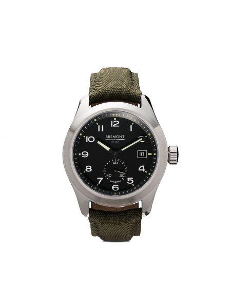 С ремешком черные часы механические круглые Bremont