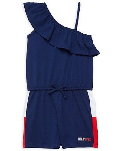 Niebieski kombinezon bawełniany asymetryczny Tommy Hilfiger