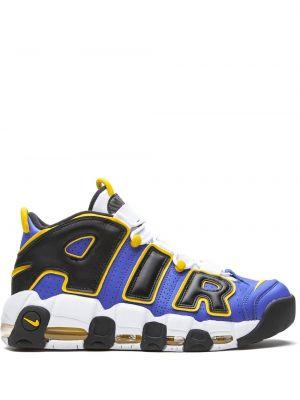 Синие баскетбольные кроссовки прозрачные Nike