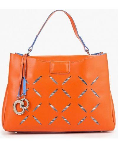 Кожаная сумка - оранжевая Gianni Conti
