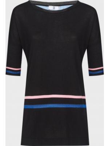 Блузка из вискозы - черная Sfizio