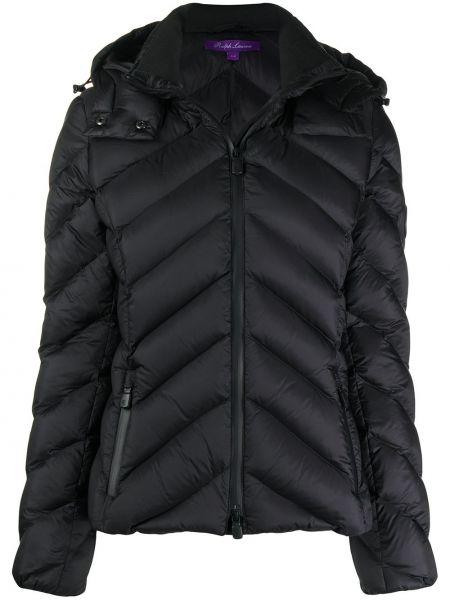 Классическая черная куртка с капюшоном с карманами с перьями Ralph Lauren
