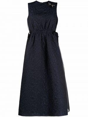 Niebieska sukienka bez rękawów Erdem