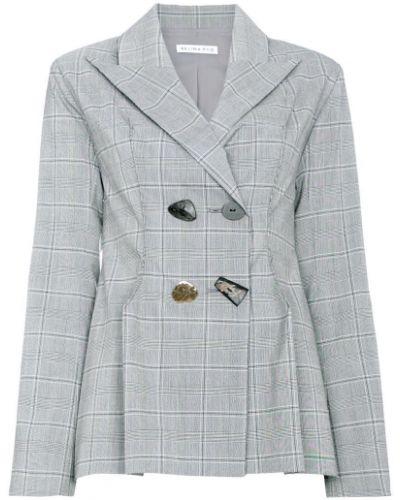 Серый пиджак двубортный Rejina Pyo