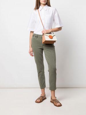 Зеленые хлопковые брюки карго с заниженной талией Paige