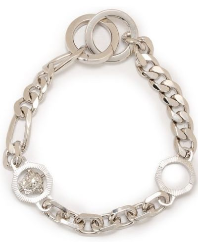 Брелок металлический серебряного цвета Versace