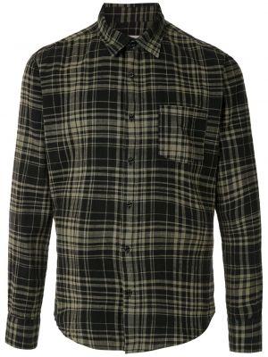 Черная прямая рубашка с воротником на пуговицах Osklen