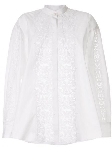 Свободная белая блузка с воротником Giambattista Valli