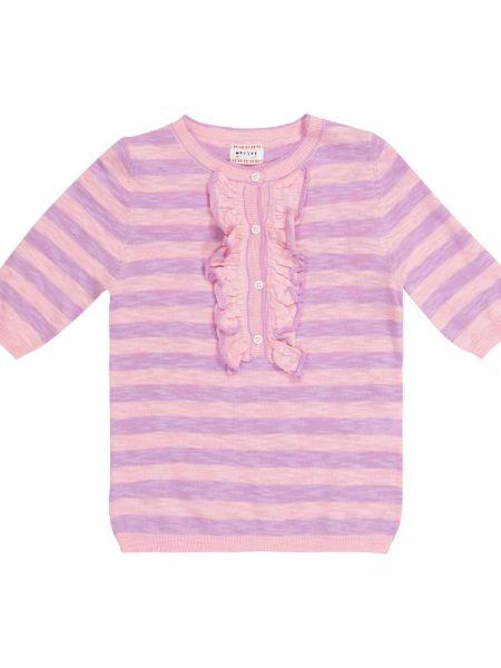 Różowy sweter w paski bawełniany Morley