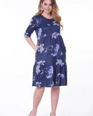 Платье в горошек с цветочным принтом Valentina