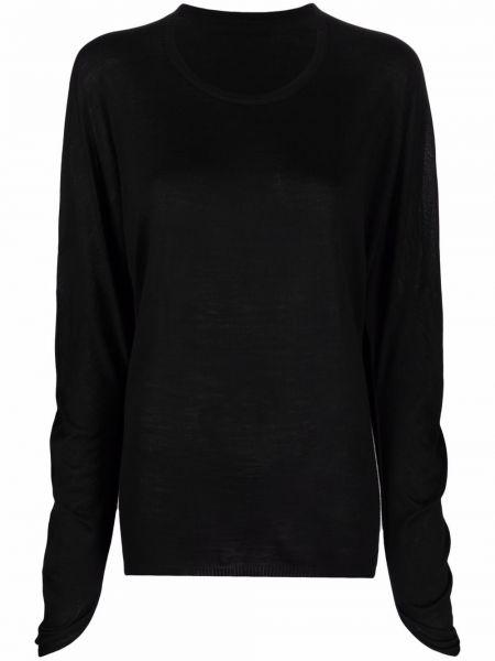 Koszulka z długimi rękawami - czarna Issey Miyake