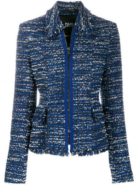 Классический пиджак твидовый приталенный Karl Lagerfeld