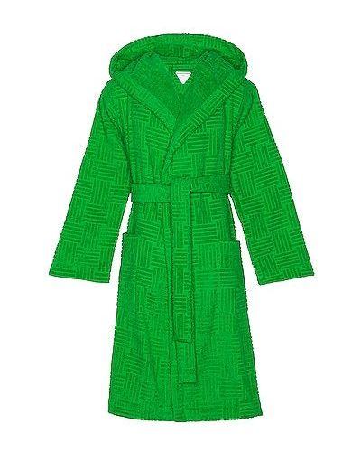 Szlafrok bawełniany - zielony Bottega Veneta