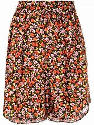 Шелковые оранжевые шорты на шнуровке Paul Smith