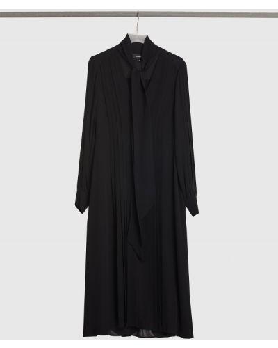Шелковое платье макси - черное Barbara Bui